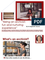 Being an Archivist