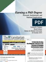 Getting a PhD degree