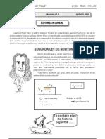 II BIM - 5to. Año - FIS - Guía 3 - Dinámica Lineal