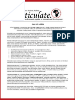 Articulate Call for Papers, Fall 2009