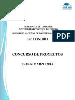 Bases Concurso de Proyectos Conibio
