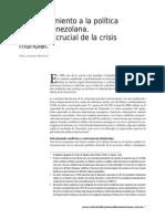 Aleman, Pavel (2012) Acercamiento a La Politica Exterior Venezolana en 2008