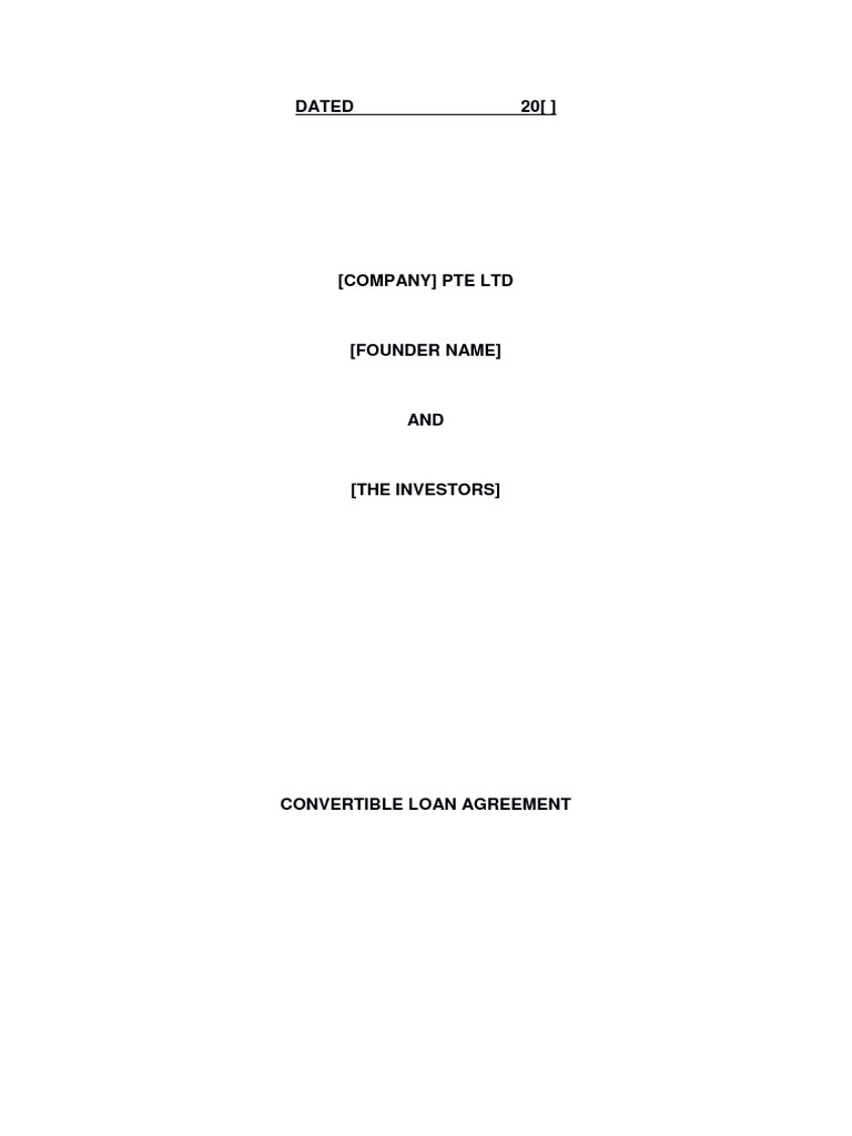 Convertible Loan Agreement | Confidentiality | Loans