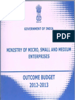 Outcome Budget MSME 2012 13