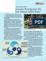 Hari Tata Ruang 2013. Harmoni Ruang dan Air untuk Hidup Lebih Baik