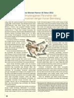 Peraturan Menteri Perumahan Rakyat Nomor 10 tahun 2012 tentang Penyelenggaraan Perumahan dan Kawasan Permukiman dengan Hunian Berimbang