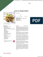 Agneau et petits légumes en triangle feuilleté - une recette Marocain - Cuisine