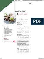 Agneau mariné et houmous au cumin - une recette Exotique - Cuisine
