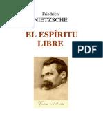 NIETZSCHE, Friedrich, El Espíritu Libre