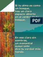 Hacia El Claro de Tu Bosque Letra Para Proyectar 98