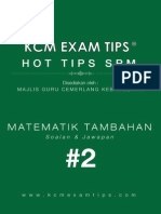 Add Math SPM KCM Exam Tips 2®