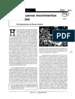 Sousa Santos. Los Nuevos Movimientos Sociales