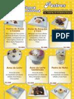tradiciones colombianas carta de postres y helados