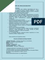 Perfil Del Psicologo Educativo