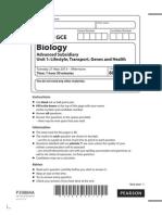 6BIO1 Biology A level Edexcel Unit 1 Paper June 2013