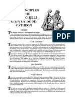 Basic Principles of the Greek Religion of Dodecatheon