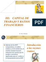 Copia de Tema 3 Capital de Trabajo y Ratios Financieros