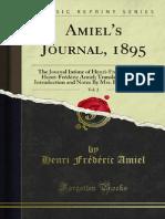 Amiel's Journal, 1895
