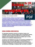 Noticias Uruguayas Domingo 3 de Noviembre Del 2013