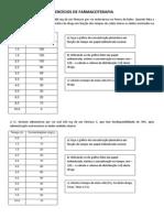 EXERCÍCIOS DE FARMACOTERAPIA 2013-2 (1)