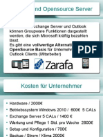Microsoft Outlook und Open Source Server