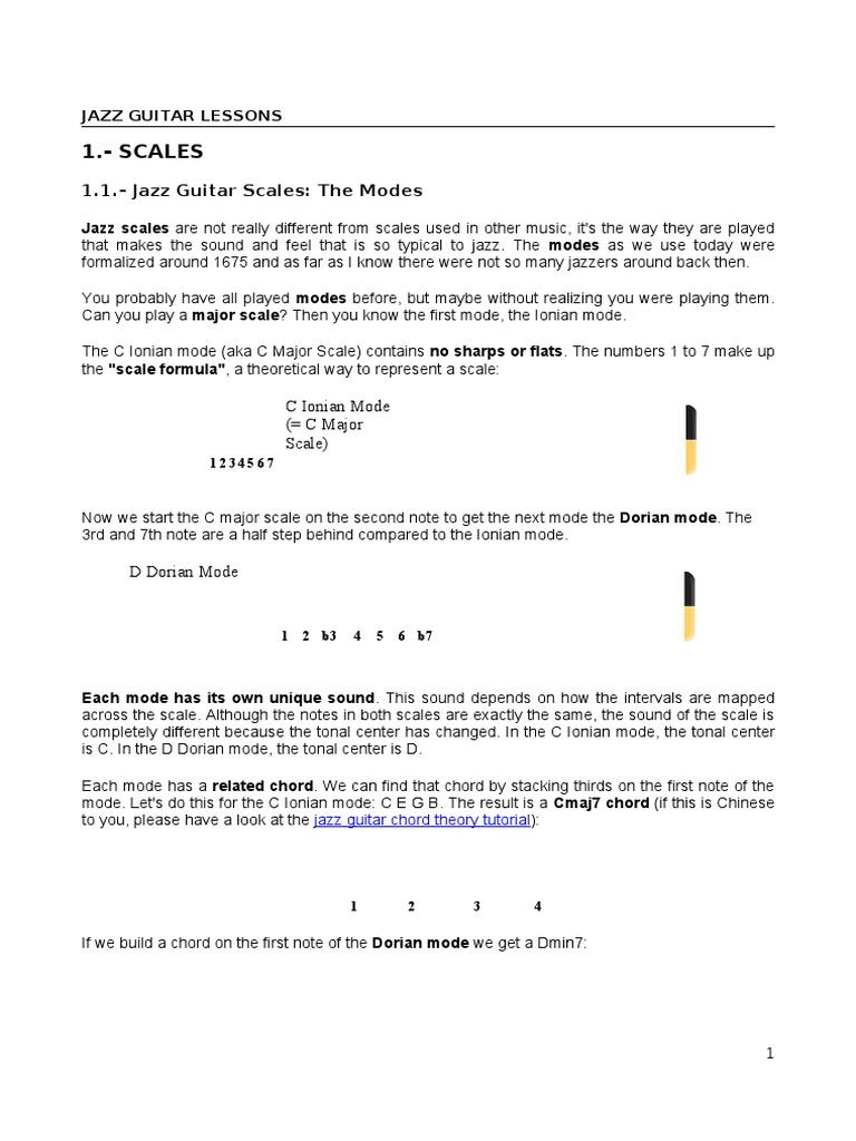 161455676 Jazz Guitar Lessons 2pdf Scale Music Mode Music