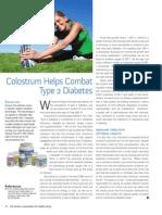 Diabetes control through ImmuneTree Colostrum supplement