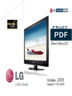 LG 37LH55 LCD TV Presentation Training Manual