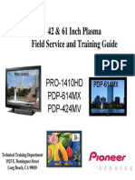 Pioneer Pdp614mx Plasma Tv Training Manual