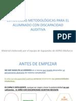 Estrategias Metodologicas Para El Alumnado Con Discapacidad Auditiva