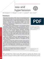 Sleep Apnoea and Systemic Hypertension