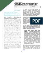 World Affairs Brief 28 June 2013 2