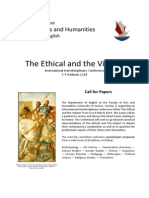 """CFP for """"The Ethical and the Violent"""" Conference"""