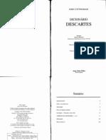 dicionário descartes (cottingham)