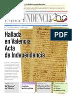 Hallada Acta de Independencia