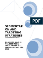 segmentation and targeting strategies