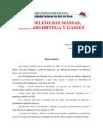 A Rebelião das Massas - UFJF