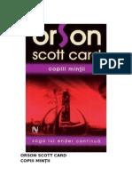 4. Orson Scott Card - Copiii mintii - Saga lui Ender