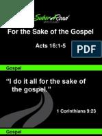 Sacrifice for the Sake of the Gospel