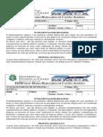 AVALIAÇÃO PARCIAL DE SOCIOLOGIA 3º ANO
