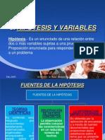 7. Hipotesis y Variables