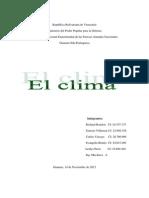 El Clima en Venezuela