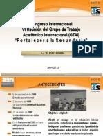 Congreso Int Telesecundarias Abril 2012