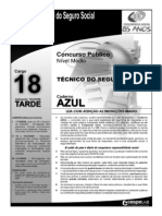 INSS Prova Cargo NM 18 Caderno Azul
