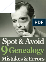 Avoiding Genealogy Mistakes & Errors