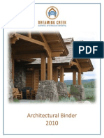 Dreaming Creek Architectural Technical Specifications Timber Frames