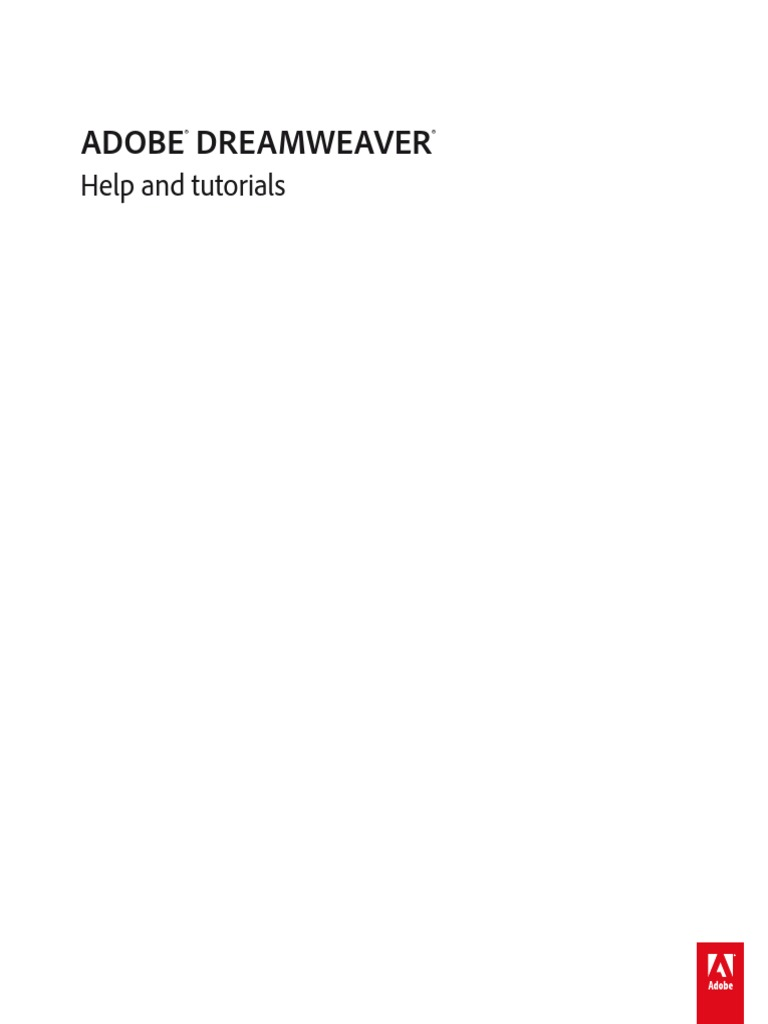 Adobe l Adobe Dreamweaver Help And Tutorials.pdf | Cascading Style Sheets |  Web Browser