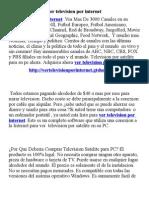 Ver Television Por Internet
