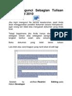 Cara Mengunci Sebagian Tulisan Pada Word 2010