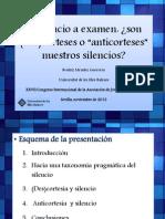 """(Silencio y """"Anticortesía"""")"""